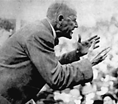 Eugene Debs addressing the crowd in Canton, Ohio, in 1918.