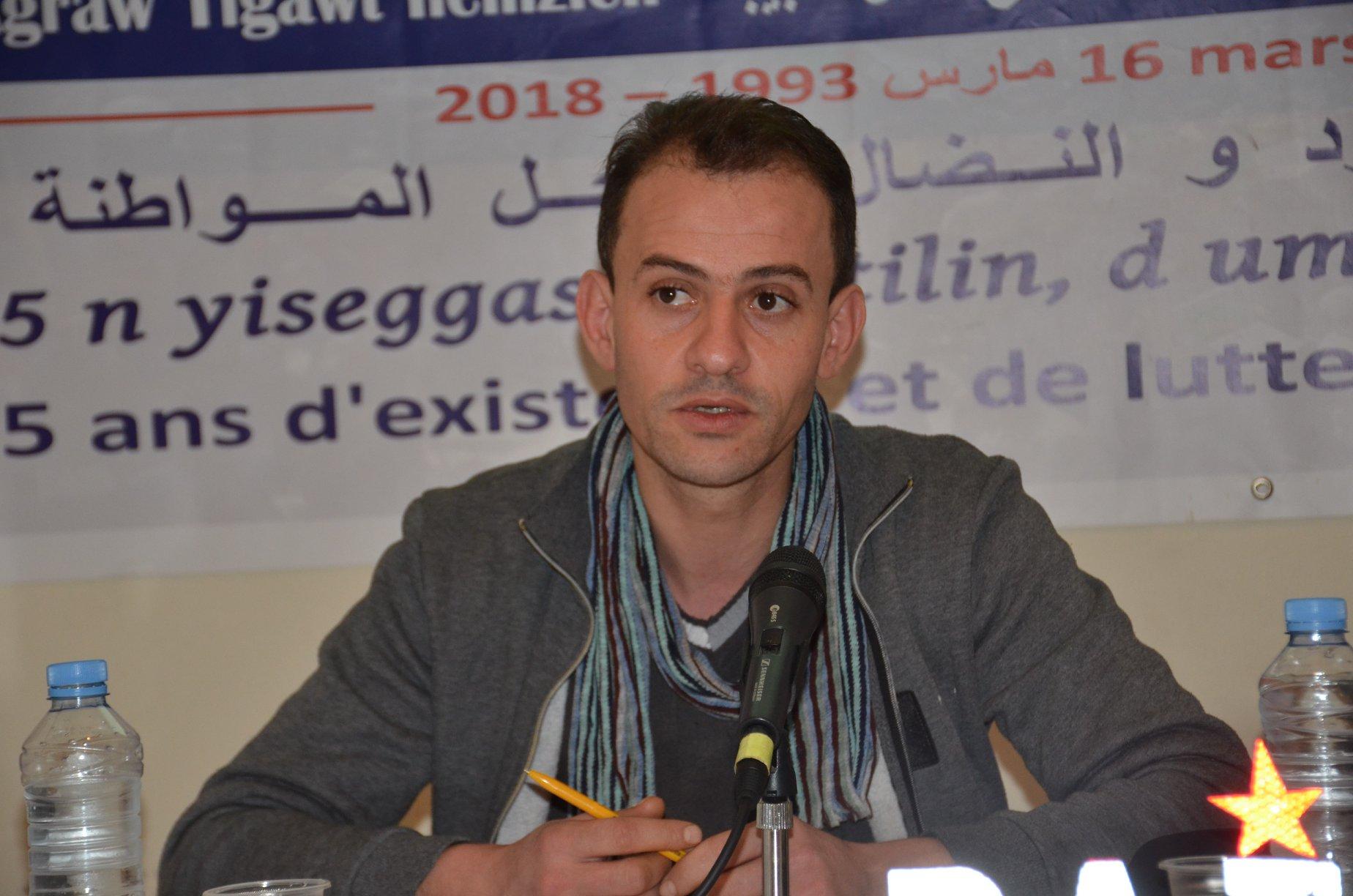 Hamza Hamouchene of the Alliance of Middle Eastern Socialists. Via Facebook