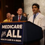 Medicare for All press conference, fall 2017.