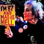 At Occupy, in 2011. Photo by Joan L. Roth.