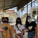 DSA members volunteered at a free store in Elkton, LA.