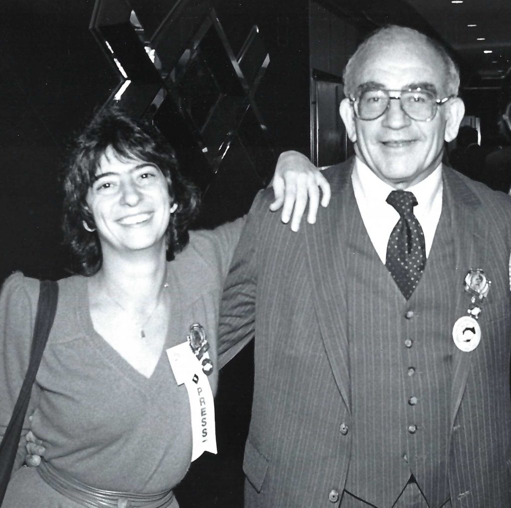 Asner and Fellner at an American Federation of Labor conference.