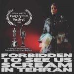 Film poster for Forbidden to Scream in Tehran.