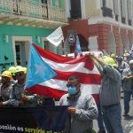UTIER members on the march.